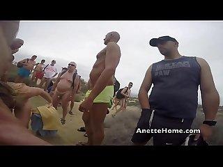 Dogging a la plage avec 80 bites en cam direct sur mon site