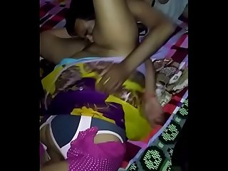 Indian wife Boob pressing and pussy Licking and blowjob