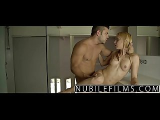 Nubilefilms hardcore cock ride for petite blonde