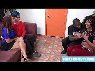 Janet mason cuckolding with hot black couple