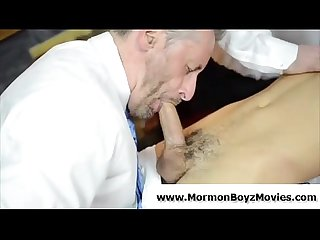 Older mormon gay dudes suck young cock in underwear