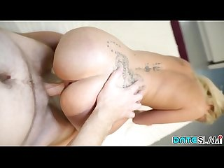 Date Slam - Anal sex date with blonde Russian slut - Part 2