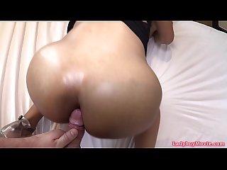 Ladyboy sandy bareback anal fucked