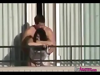 My neighbors fucked on the balcony on spyamateur com