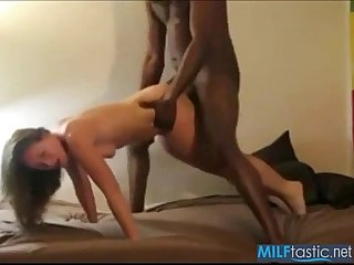 Sexy white wife takes huge black cock