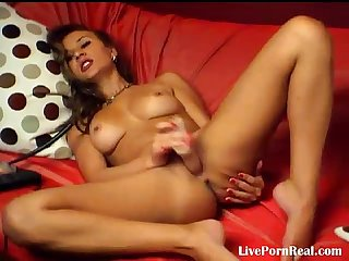 Hot brunette playing with herself with pleasure 2 flv