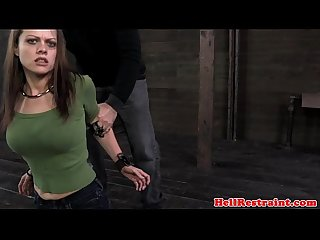 Bdsm Bounded submissive on floor hogtied