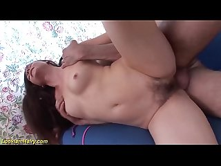 first deepthroat with hairy Milf