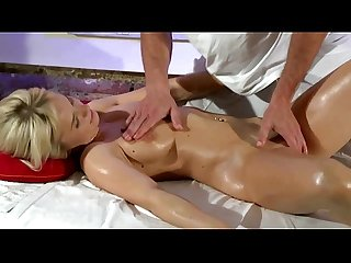 Blonde massage amateur sucks and fucks