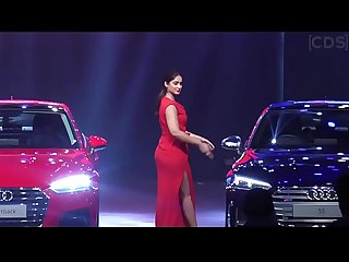 Ileana D cruz hot Ass in red gown at audi a5 launch