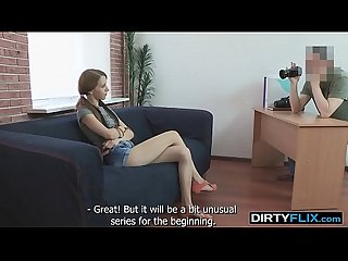 Dirty Flix - A skinny redhead Christi Cats eage teen-porn