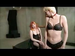 Lesbian domestic discipline and strap on fuck