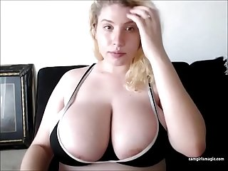 Thick girl with huge tits loves cum on her face lpar camgirlsmagic rpar