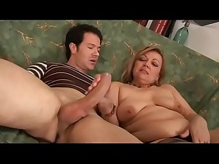 An ugly milf for a massive ready cock