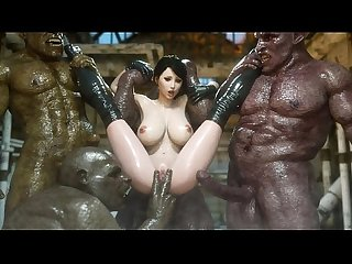 3d superheroine gangbanged by mutants