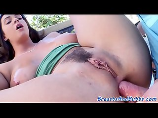 Busty milf strips and gives a great titfuck