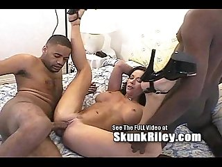 Bianca blows two big black boners excl