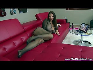 Step mom loves porn mindi mink pantyhose masturbation