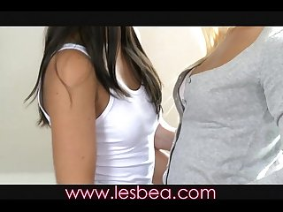 Lesbea teen best friends make love