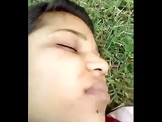 Village girl fucking by her Boyfriend in Garden