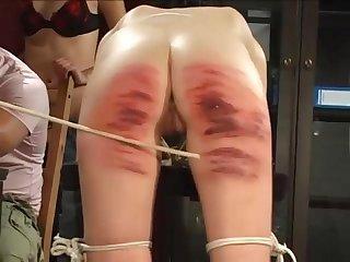 Hard spanking humiliated bitches