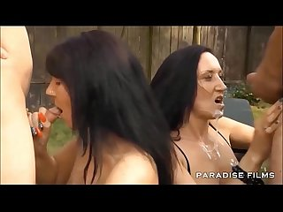 Paradise films amateur gangbang in the garden