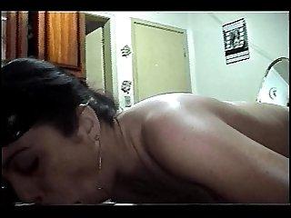 Empurrando rola grossa no Cuzinho da Monique