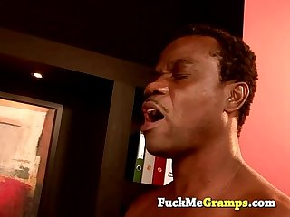 Kim fucked by old black grandpa