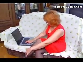 Redheaded mature gal goes for cock
