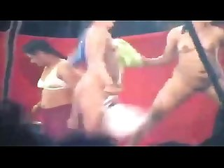 indian andhra Topless desi stage dance wild shaking tits