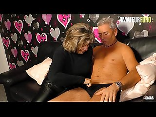 AMATEUR EURO - German Granny Karin A. Sucks And Fucks With Hubby Like A Pro