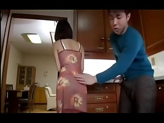 Asian mature Milf mom seduce her son's classmates in kitchen - ReMilf.com
