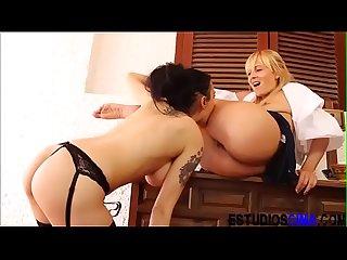 Sexy lesbian teacher