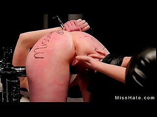 Blonde marie mccray in bondage device hard flogged and pussy toyed