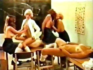 Schoolgirl orgy vintage retro