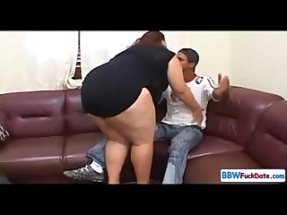 Interracial Large BBW and Skinny Black