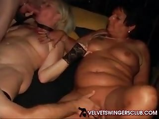 Velvet swingers club party with mature slut wives