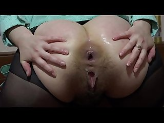 Hard anal masturbation with a big dildo comma gaping hole in a juicy Ass period