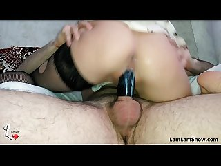 Young mommy sucking and fuck cumming on cock