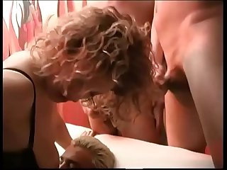 Perverted MILF fucked by a group