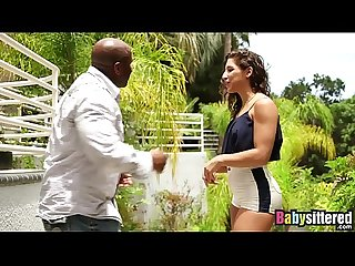 Abella danger gagging on big black dick before being fucked