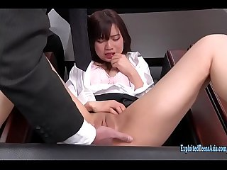Jav Amateur Kyouno Gets Horny In The Office Shoves Vibrator Up Herself Then Fucked By Old Guy