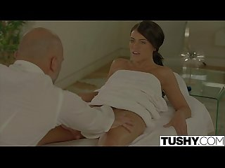 Tushy lonely Wife adriana chechik gets anal massage