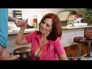 Busty redhead Mature waitress Fucking