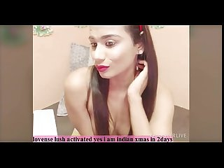 indian beauty having fun on cam