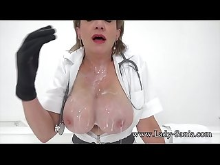 Jerk off instructions from naughty nurse Lady Sonia