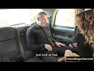 Brit passenger pussyfingering busty cabbie