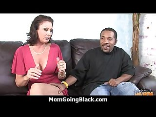 Huge black meat going into horny mom 28