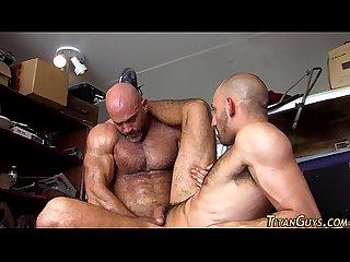 Brawny bear jizzes gay