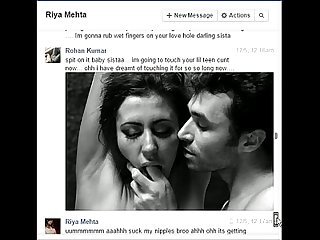 Indian not brother rohan fucks sister riya on Facebook chat
